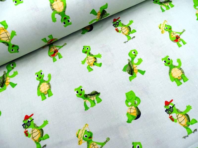 Bio-Baumwollstoff Schildkröte