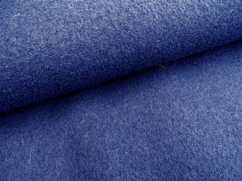 Wollstoff - Walkloden dunkelblau