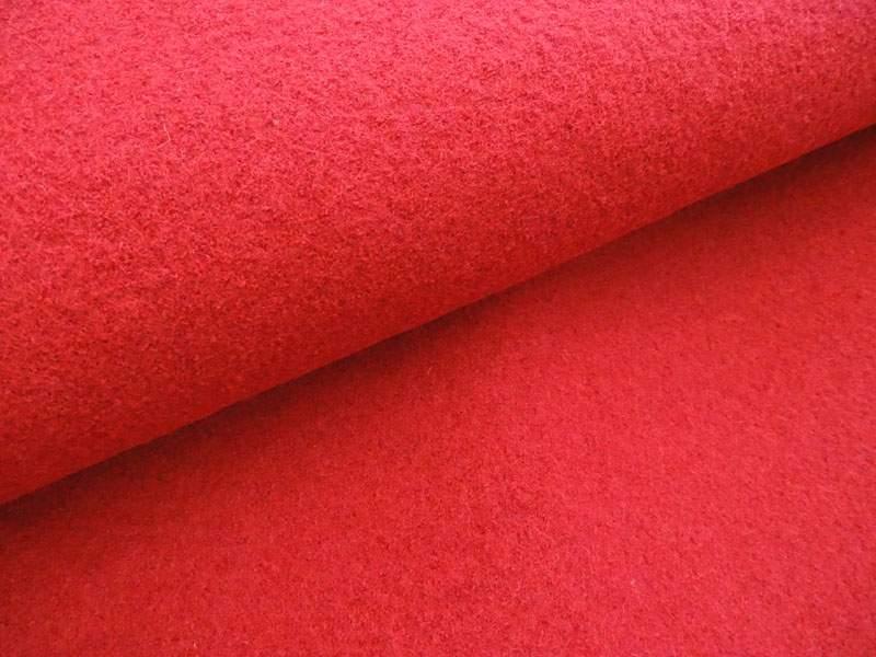 Wollstoff - Walkloden rot