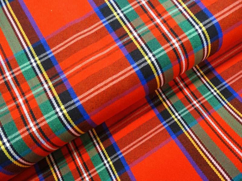 Modestoff Schottenkaro rot