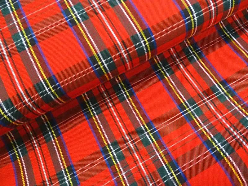 Modestoff kleines Schottenkaro rot