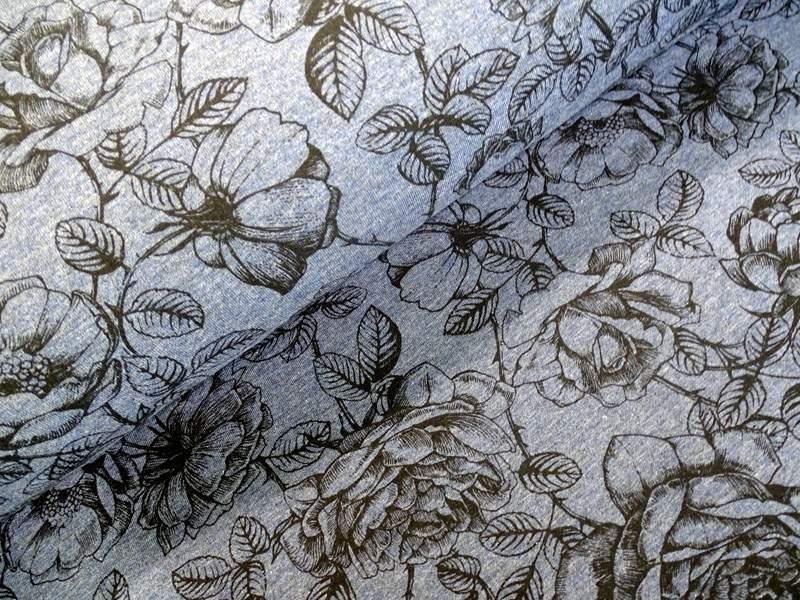Bauwolljersey Blüte